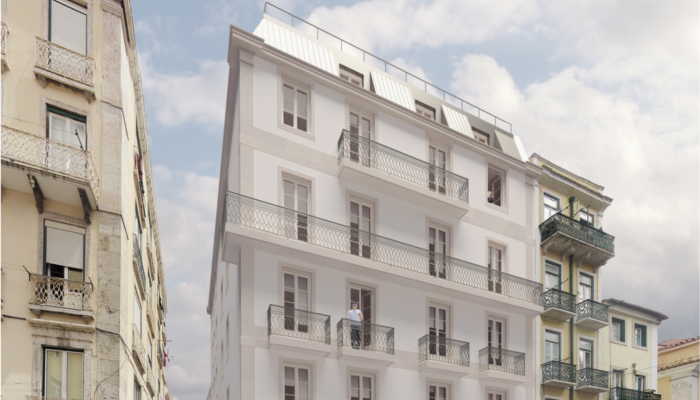 Residential and commercial building at Rua dos Anjos, Lisbon
