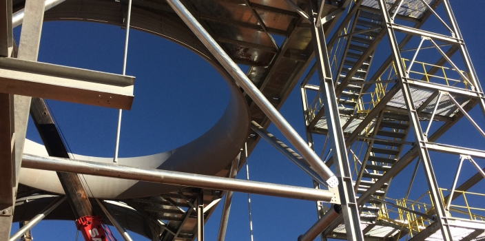 Air Cooled Condenser of the new Ilanga Concentrated Solar Power (CSP)