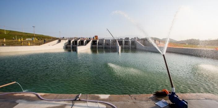 Deodoro Olympic Park – Canoe Slalom – Filling the channel