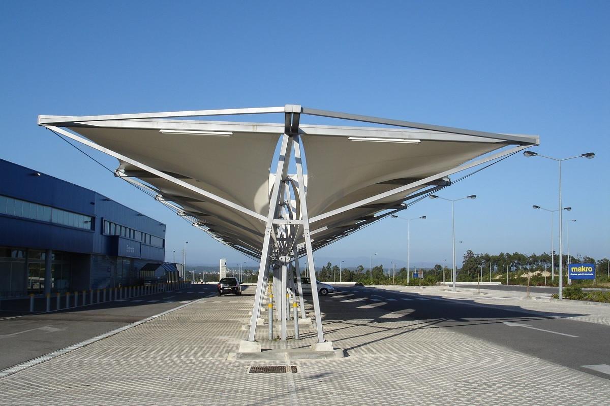 Tensioned Membrane Roof For Aveiro S Makro Parking Gravidade